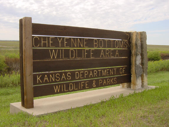 Cheyenne Bottoms Entrance sign