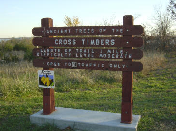 Cross Timbers Trail sign