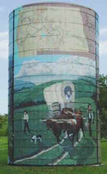 Oregon Trail mural